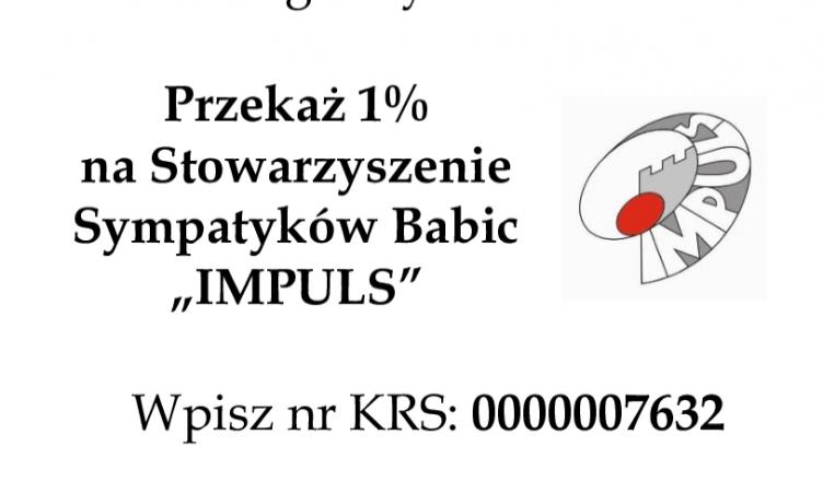 """Przekaż 1% na Stowarzyszenie Sympatyków Babic """"IMPULS"""""""