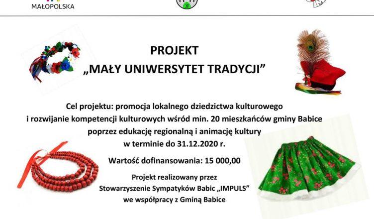 """Projekt """"Mały Uniwersytet Tradycji"""""""